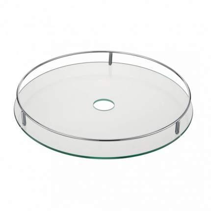 Полка стеклянная центральная диаметр 450 мм, Д480 Ш480 В70, STS450