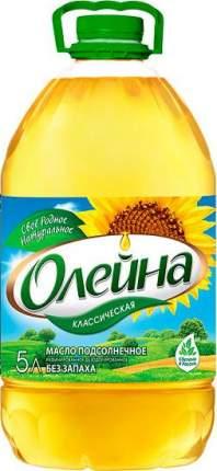 Подсолнечное масло Олейна Классическая 5 л