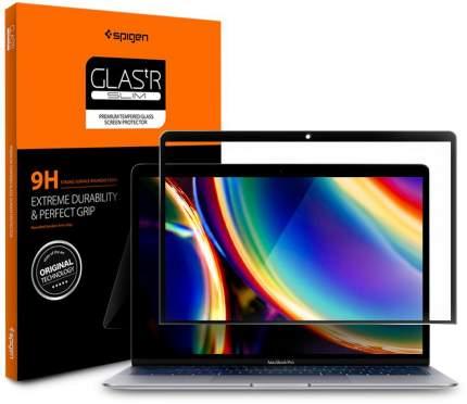 """Защитное стекло Spigen Glas.tR Slim (AGL00083) для MacBook Air/Pro 13"""" Black"""