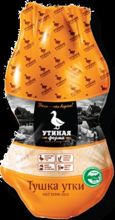 Тушка утки Утиная ферма 1 сорт потрошеная охлажденная вакуумная упаковка весовая Россия