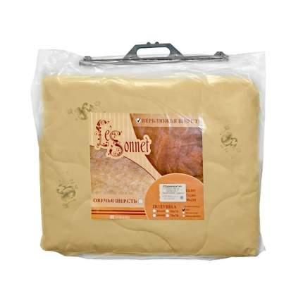 """Одеяло 2,0 """"ЭГО"""", верблюжья шерсть, 172x205 см, цвет: бежевый"""
