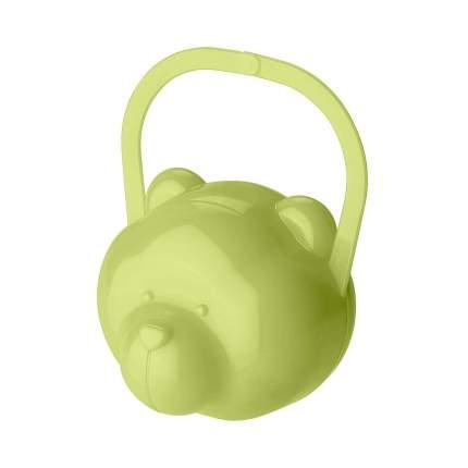 Футляр для детской пустышки Мишка, зеленый Бытпласт