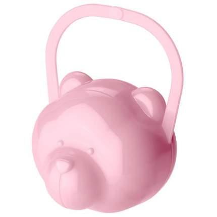 Футляр для детской пустышки Мишка, розовый Бытпласт