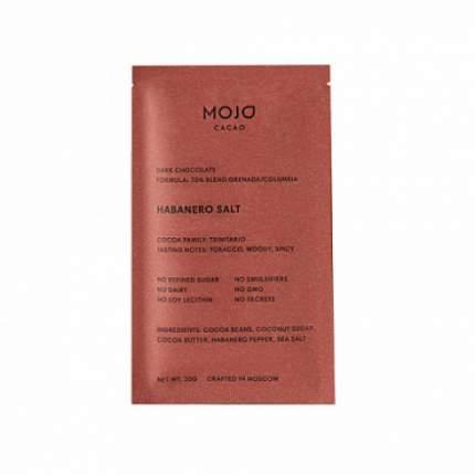 "Шоколад горький ""С перцем Habanero и морской солью"", 70% какао Mojo Cacao 20 г"
