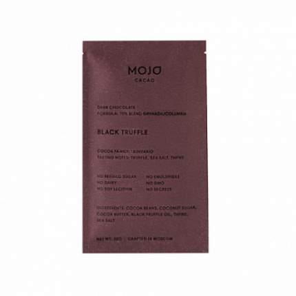 """Шоколад горький """"С черным трюфелем, морской солью и тимьяном"""", 70% какао Mojo Cacao 20 г"""