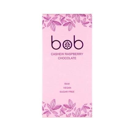 Шоколад белый с малиной и кешью Bob 50 г