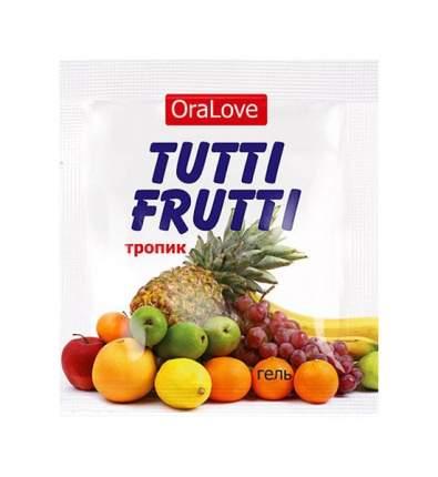 Пробник гель-смазки Tutti-frutti со вкусом тропических фруктов 4 г