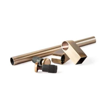 "Комплект рейлинга ""Модерн"", 2 заглушки, 2 держателя, труба 600 мм, бронза SET-600 BA"