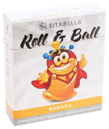 Стимулирующий презерватив-насадка Roll Ball Banana