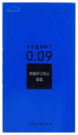 Утолщенные презервативы Sagami 0.09 Natural 10 шт.