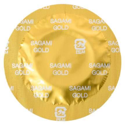 Золотистые презервативы Sagami Gold 10 шт.