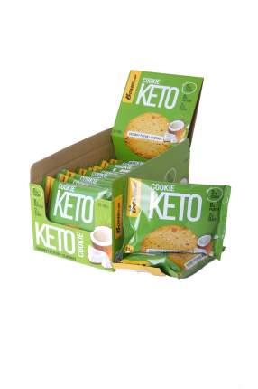 Печенье Bombbar Keto Cookie 12 40 г, 12 шт., кокос/миндаль