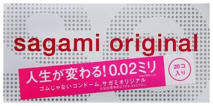 Ультратонкие презервативы Sagami Original 0.02 20 шт.