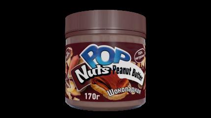 Арахисовая паста POP Nuts Peanut Butter Шоколадная, 170г
