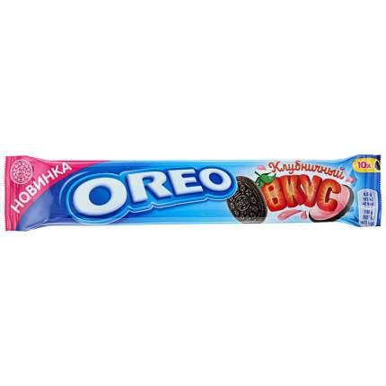 OREO печенье с какао и начинкой клубника 95г