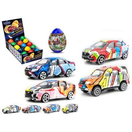 Машинка Autotime Авто с граффити, в яйце-сюрпризе, 1:60 Autogrand