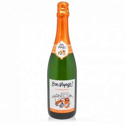 Вино Безалкогольное BON VOYAGE  Шардоне белое сильногазированное 0,75л