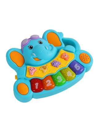 Пианино обучающее ТМ Smart Baby Слоненок цвет синий, 36 звуков, мелодий, стихов JB0206531