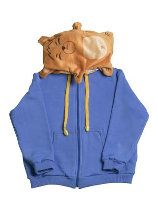 Худи детский с капюшоном и игрушка Мишка по имени Боньк Май, цв. синий, р.152