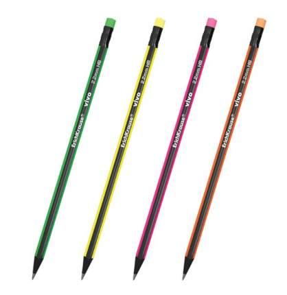 Чернографитный трехгранный карандаш с ластиком ErichKrause VIVO HB 1 шт