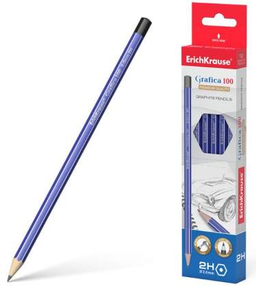 Чернографитный шестигранный карандаш ErichKrause Grafica 100 2H
