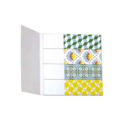 Блок-закладка с липким слоем, разм. 18х70 мм, бумага, 4 цвета по 25 л.,европодвес