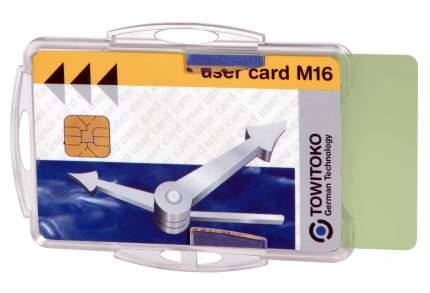 Держатель для  пропусков или удостоверений  более 1 мм, прозрачный, 54x85