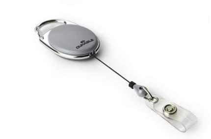 Держатель для бейджей роликовый до 80 см., с кнопкой, серый, цена за 1 шт