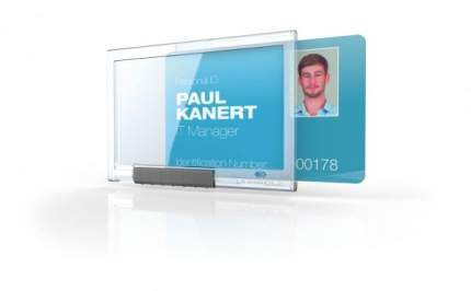 Держатель для магнитной карты PUSHBOX MONO, прозрачный, 54 x 85 мм. Цена за 1 штуку