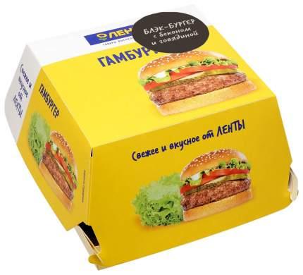 Блэк-бургер с беконом и говядиной 220 г