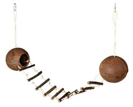 Два кокосовых домика с мостиком, для грызунов, 13 х 100 см, Trixie (62103)