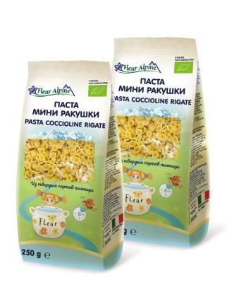 Макароны МИНИ РАКУШКИ Fleur Alpine для всей семьи, 2 шт. по 250 г