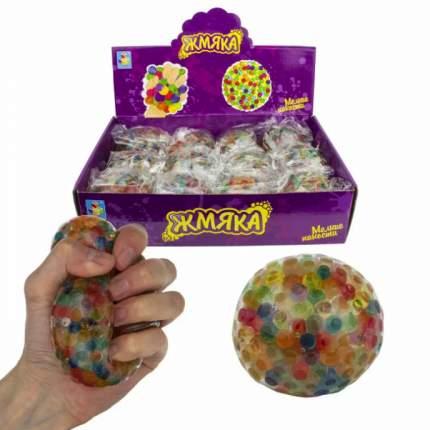 Жмяка Мелкие пакости , с разноцветными шариками, 7 см
