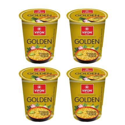 Лапша быстрого приготовления Золотой цыпленок VIFON чаша (4 шт. по 60 г)