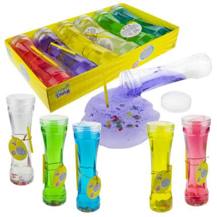 Набор Слайм тайм. Мяшка Bubble Gum , с цветами, 18,5 см