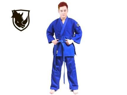 Кимоно дзюдо RHINO. Цвет синий. Размер 28-30. Рост 120.