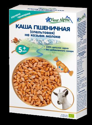 Каша молочная Fleur Alpine Пшеничная (спельтовая) на козьем молоке с 5 мес. 200 г