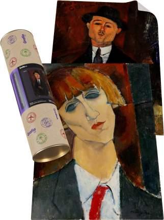 """Картины А3x2 Grafia.ink """"Амедео Модильяни портреты Поля Гийома + Мадам Кислинг"""""""