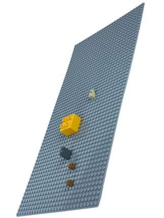 Пластина для конструктора Baseplate , 45x22 см, XXL (светло-серая)