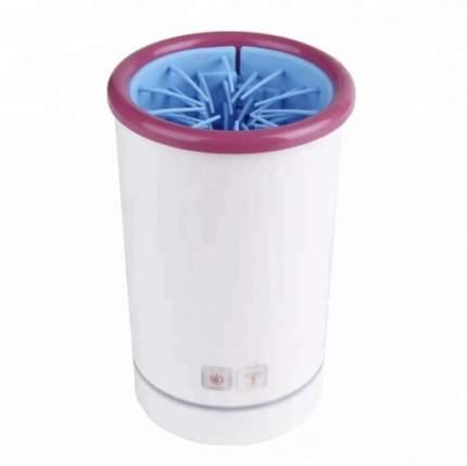 Лапомойка для собак Pb+ пластик, силикон, белый, розовый, длина 11.7 см