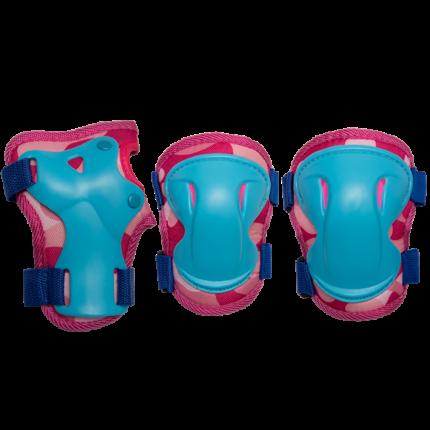 Комплект защиты Los Raketos Combi LRС-001; розовый; M