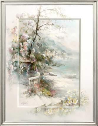 "Картина на холсте, ""На берегу залива"", 80х60 см., Willem Haenraets, Арт. ХВ-х7"