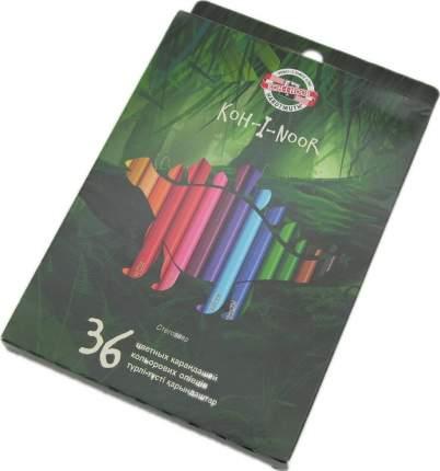 Набор карандашей цветных ДИНОЗАВРЫ, 36 цв., с европодвесом