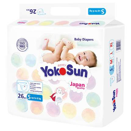 Подгузники YokoSun S (до 6 кг) 26 шт.