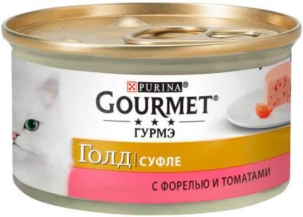 Консервы для кошек Gourmet Gold Суфле, с форелью и томатами, 12шт по 85г