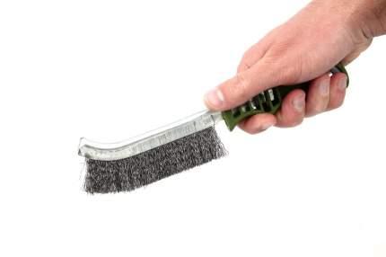 Щетка с пластиковой рукояткой  щетина из нержавеющей стали Дело Техники 270251