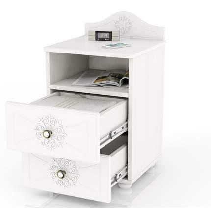 Тумба прикроватная приставная Мебельный Двор Онега ТП-1 41х40х60 см, белый