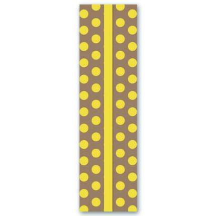 Закладка картонная для книг Феникс+ Горох желтый 42922