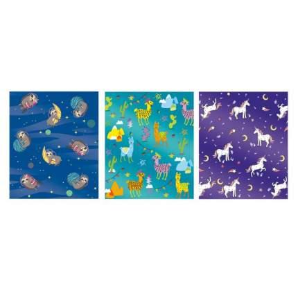 Обложки для тетрадей Феникс+ Зверята, с голографическим рисунком, 3 шт