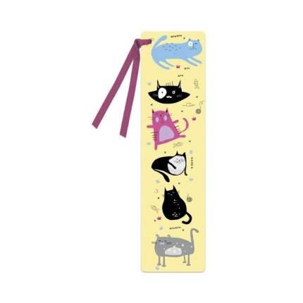 Закладка картонная для книг Феникс+ Забавные коты 52271